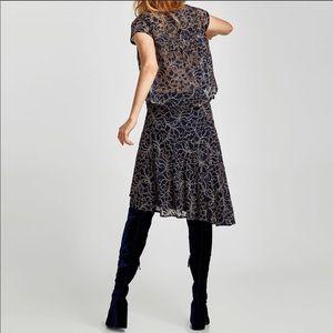 Zara two tone lace skirt